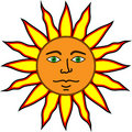 Happy Satisfied Sun. Royalty Free Stock Photo