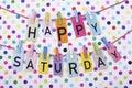 Happy Saturday Royalty Free Stock Photo