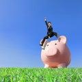 Happy Saving Money Royalty Free Stock Photo