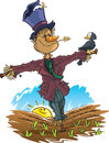 Happy Scarecrow Royalty Free Stock Photo