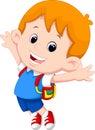 Happy school boy cartoon Royalty Free Stock Photo