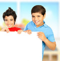 Happy schoolboys Stock Photos