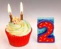 Happy second birthday Stock Photo