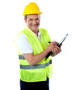 Happy senior construction engineer Royalty Free Stock Photos