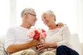 Happy Senior Couple With Bunch...