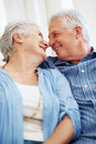 Happy senior couple caught in a moment Stock Photography