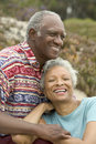 Happy Senior Couple Relaxing Outdoors Royalty Free Stock Photo
