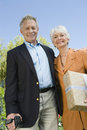 Happy Senior Couple Standing Together Royalty Free Stock Photos