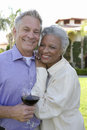 Happy Senior Couple Standing Together Royalty Free Stock Photo