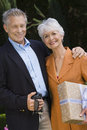 Happy Senior Couple Standing Together Royalty Free Stock Images