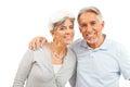 Happy Senior Couple On White Background Royalty Free Stock Photo