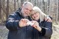 Happy Senior Elderly Couple Ol...