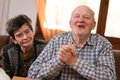 Happy senior people couple at home Royalty Free Stock Photo