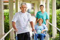 Happy senior people in nursing home Royalty Free Stock Images