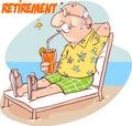 happy senior retirement at the beach Royalty Free Stock Photo