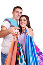 Happy shoper couple Stock Image