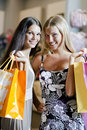 Happy shoppers! Royalty Free Stock Photos