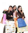 Happy shopping Stock Images