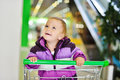 Happy shopping baby Royalty Free Stock Photography