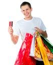 Happy shopping man Royalty Free Stock Photo