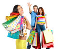 Happy shopping people Royalty Free Stock Image