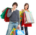 Happy shopping people Stock Photography
