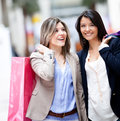 Happy shopping women Royalty Free Stock Image