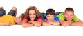 Happy sister and brothers Royalty Free Stock Photo