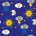 Happy sky pattern