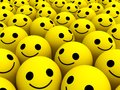 Happy smiles many bright yellow Royalty Free Stock Photos