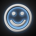 Happy smiley with backlight effect on the black background Royalty Free Stock Image