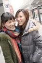 Happy smiling asian women in city taipei taiwan Stock Photography