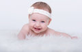 Happy smiling baby girl with blue eyes Royalty Free Stock Photo