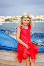 Happy smiling blond girl Royalty Free Stock Photo