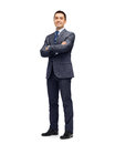 Happy smiling businessman in suit Royalty Free Stock Photo