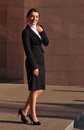 Happy smiling businesswoman standing portrait Royalty Free Stock Photo