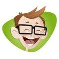 Happy smiling cartoon boy Royalty Free Stock Photo