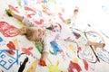 Šťastný plný barva (malovat)