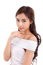 Happy, smiling, confident asian woman Royalty Free Stock Photo