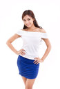 Happy, smiling, confident woman, arms akimbo Royalty Free Stock Photo