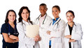Happy smiling doctor physician nurse team Royalty Free Stock Photo