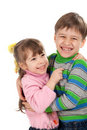 Happy smiling kids hugging Royalty Free Stock Photography