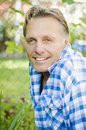 Happy smiling mature man in forties. Royalty Free Stock Photo