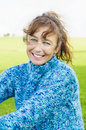 Happy smiling mature woman Stock Photography