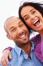 Happy smiling middle aged couple outdoors Stock Photography