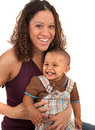 Happy Smiling Mother and Baby Boy Stock Photography