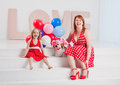 Happy smiling mother with her daughter Royalty Free Stock Photo