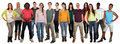 Happy smiling multi ethnic group of young people isolated Royalty Free Stock Photo