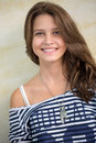 Happy smiling teen girl and looking at camera Royalty Free Stock Photography