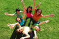 Happy smiling teen group Royalty Free Stock Photo